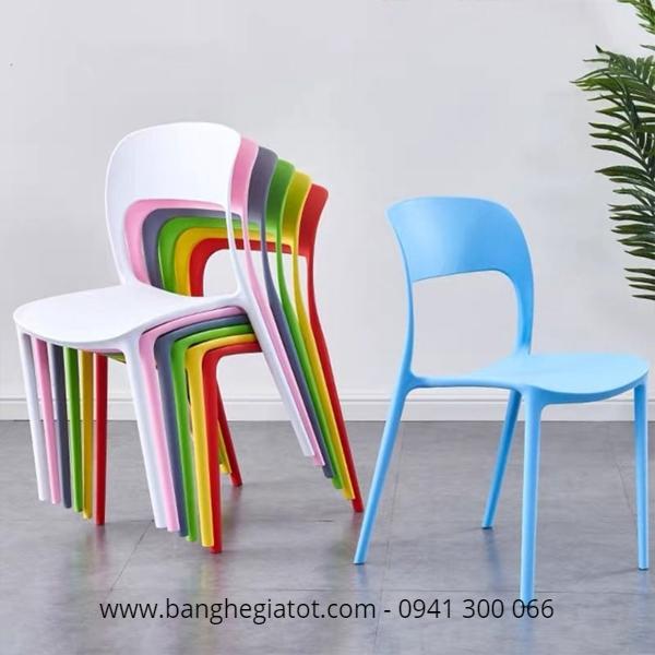 Ghế nhựa tựa lưng đẹp