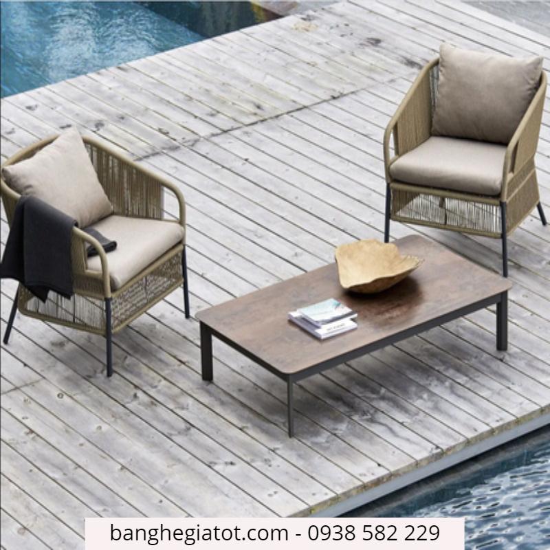 bàn ghế nhôm cafe