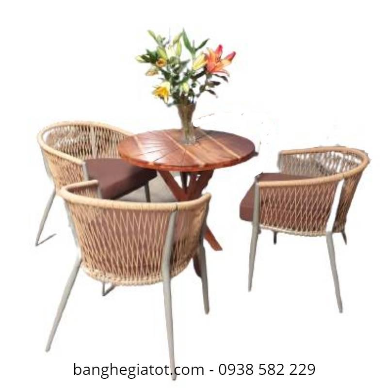 mẫu bàn ghế sắt đẹp